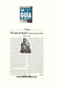 1991 Crítica EL NIÑO DE BELÉN La Guía