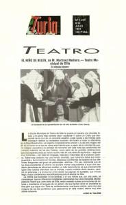 1991 Crítica EL NIÑO DE BELÉN Turia