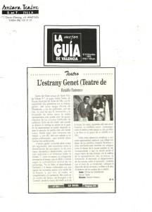 1991 Crítica L'ESTRANY GENET La Guía