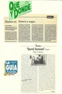 1991 Críticas QUESTI FANTASMI! Qué y Dónde - La Guía