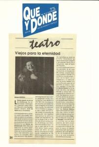 1992 Crítica L'ESTRANY GENET Qué y Dónde