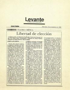 1992 Crítica L'ESTRANY GENET Qué y Levante