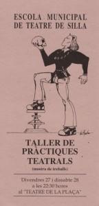 1994 TALLER DE PRÀCTIQUES TEATRALS disseny Miguel Ángel Romero