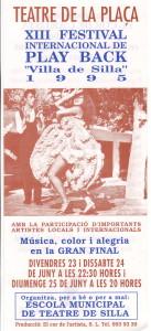 1995 XII FESTIVAL INTERNACUONAL VILLA DE SILLA disseny Ramon Moreno