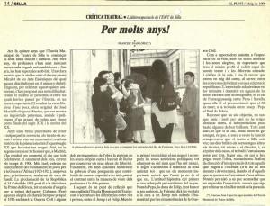1999 Crítica HISTÒRIA D'UNS POCS El Punt