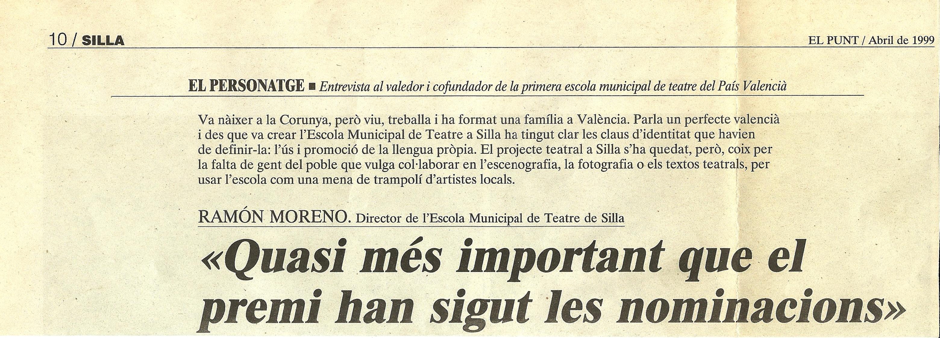 1999 Entrevista en El Punt 1