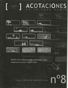 2003 Article de Benja Domènech ACOTACIONES nº 8 1 Portada