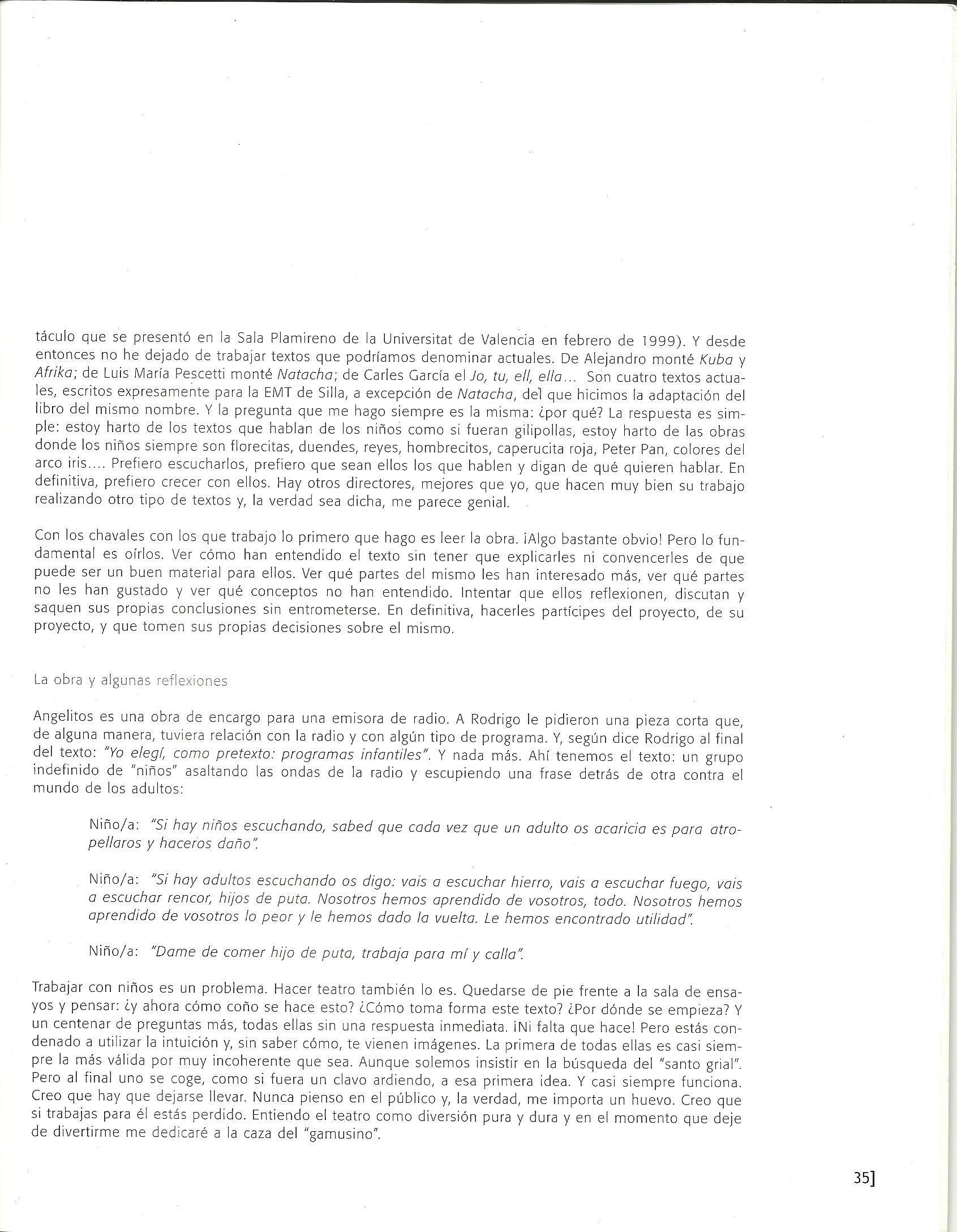 2003 Article de  Benja Domènech ACOTACIONES nº 8 2
