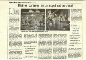 2005 Crítica DIVINES PARAULES El Punt