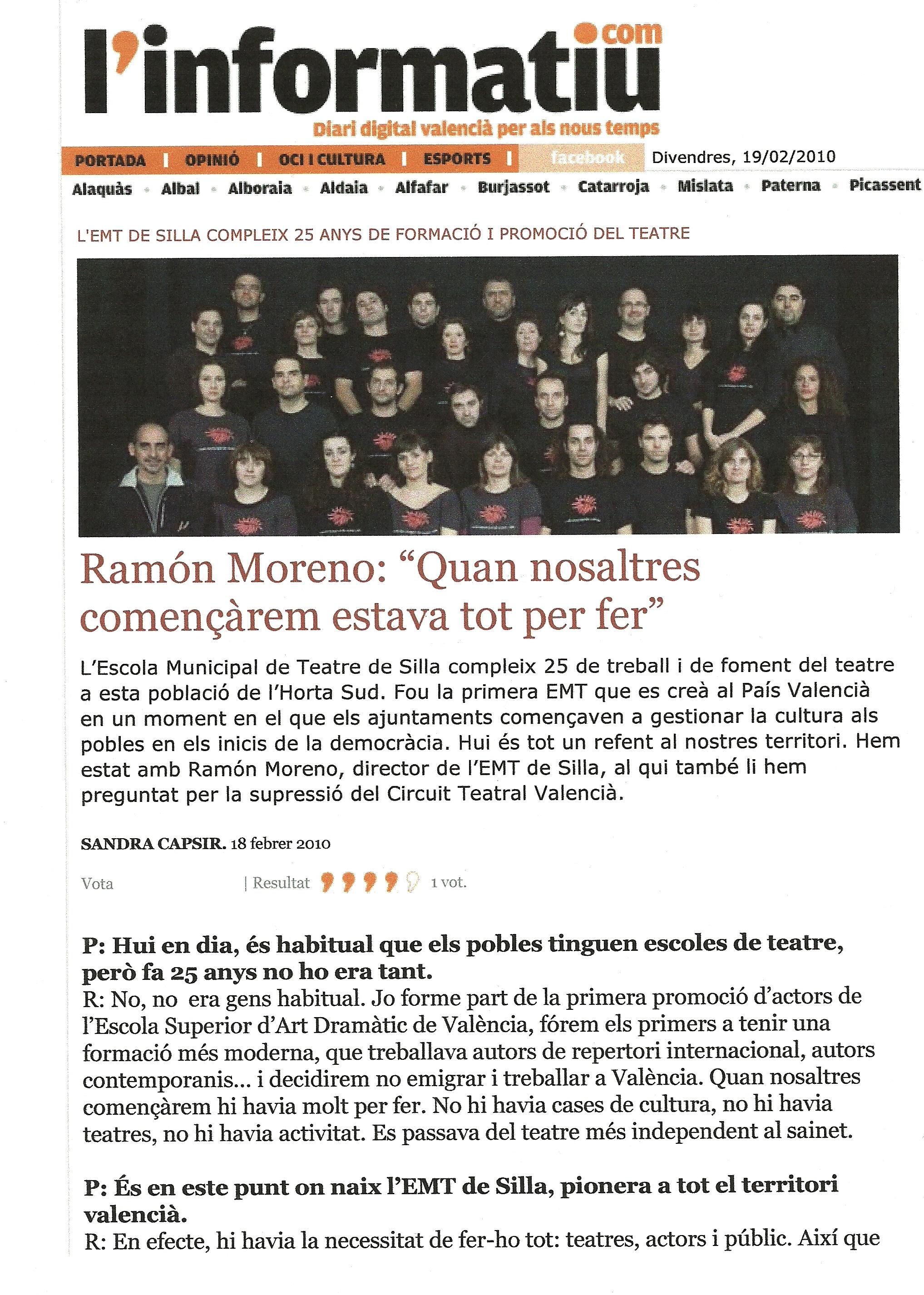 2010 Entrevista en L'Informatiu.com 1