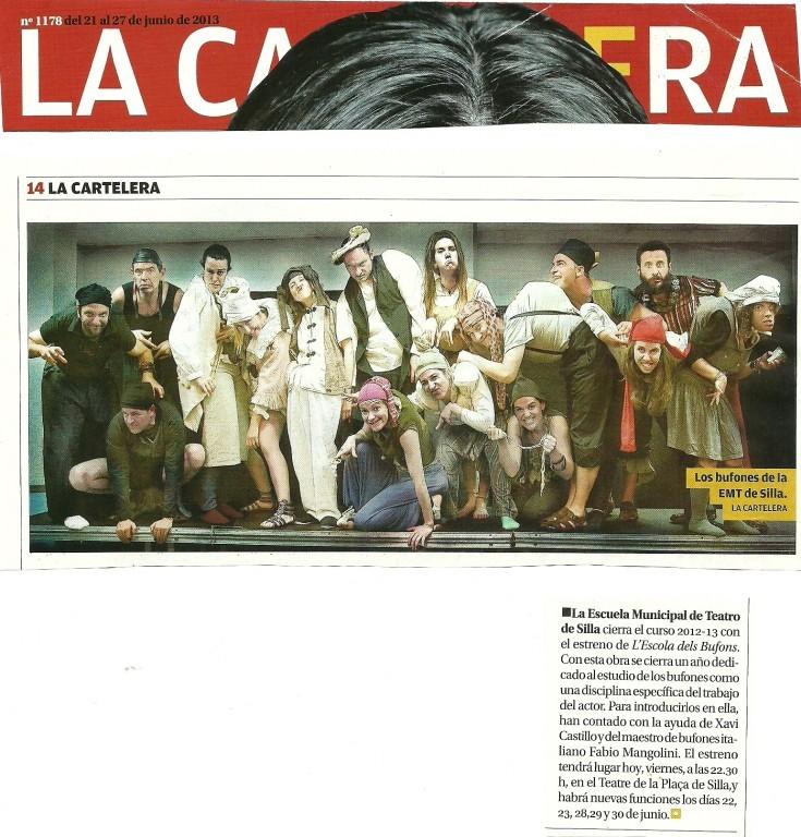 2013 L'ESCOLA DELS BUFONS en La Cartelera de Levante