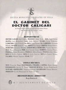 1997 El gabinet del doctor Caligari